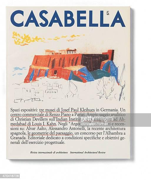 'Cover of Casabella N 571 September 1990 20th Century graphic 31 x 28 cm Italy Lombardy Milan Arnoldo Mondadori Editore Whole artwork view On a white...