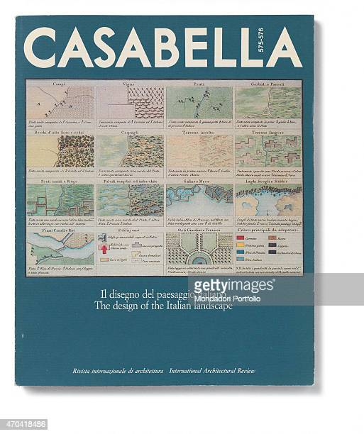 'Cover of Casabella N 575576 JanuaryFebruary 1991 20th Century graphic 31 x 28 cm Italy Lombardy Milan Arnoldo Mondadori Editore Whole artwork view...