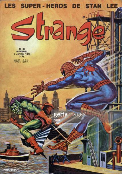 Cover of comic strip magazine Strange january 1973 with Spider Man