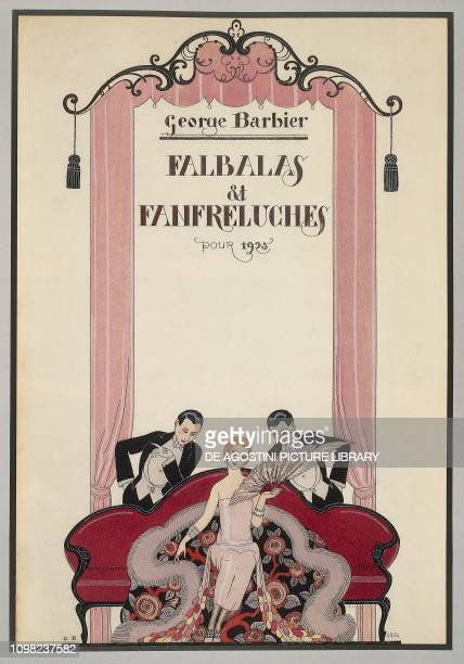 Cover of Falbalas et Fanfreluches almanac of 1925 by George Barbier France 20th century