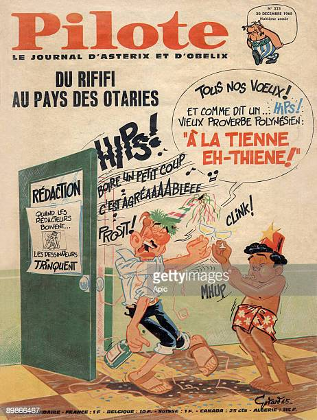 Cover of french magazine Pilote journal d'Asterix et d'Obelix december 30 1965 with a drawing by Christian Godard