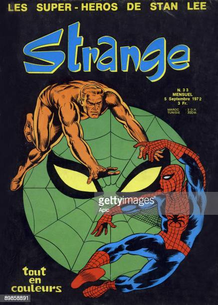 Cover of magazine Strange september 1972 with Spider Man