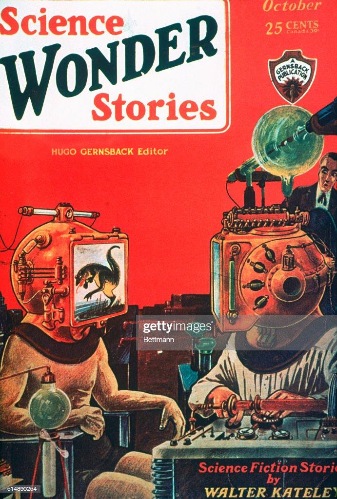 Cover Illustration of Science Wonder Stories Magazine : News Photo