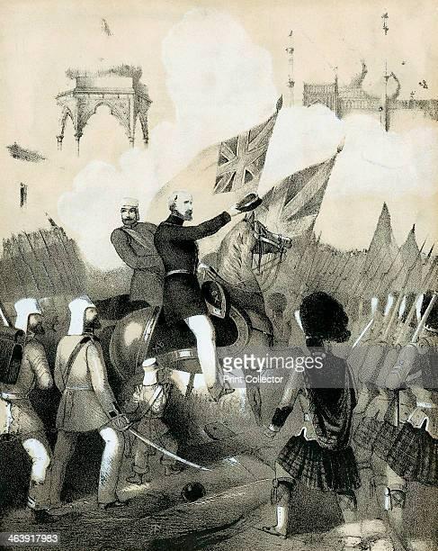 Cover of sheet music of The Battle March of Delhi c1860 Robert Cornelis Napier British military commander making his triumphant entry into Delhi...