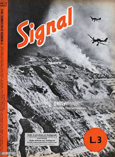 cover of 'Signal' German propaganda magazine printed in Nazi Germany from 1940 to 1945 with the aim to distribute it in neutral countries and in...