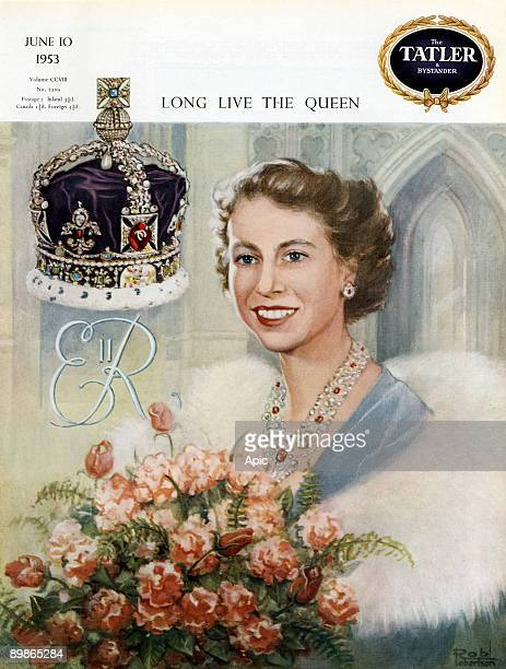 Cover of Tatler and Bystander 10 June 1953 in Queen illsutration