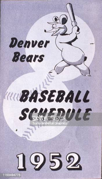 Cover of the Denver Bears baseball team's home schedule Denver Colorado early 1952