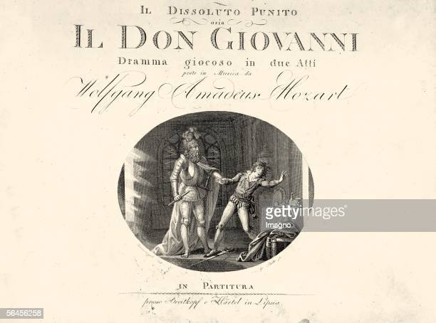 Cover of the first printing of the score of 'Don Giovanni' by Wolfgang Amadeus Mozart Copper engraving 1801 [Titelblatt des Erstdrucks der Don...