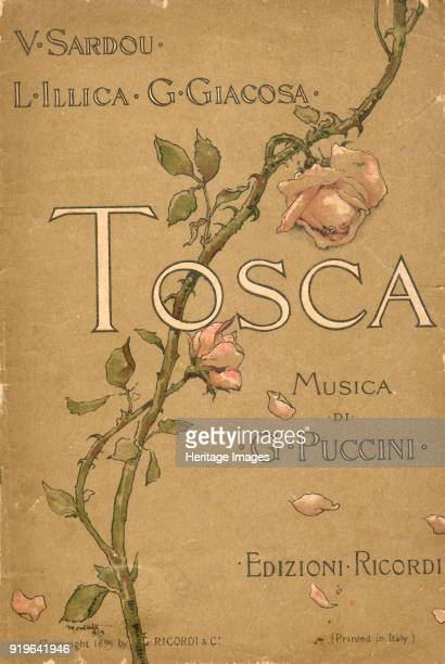 Cover of the Libretto of opera Tosca by Giacomo Puccini 1899 Private Collection