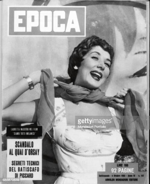 Cover of the magazine Epoca Actress Lauretta Masiero 1953