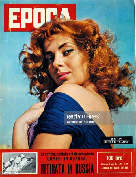 Cover of the magazine Epoca Singer and actress Abbe Lane 1957