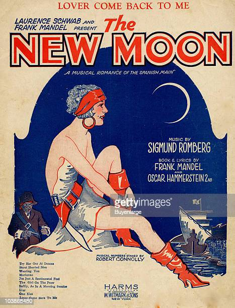 Cover of the sheet music for 'Lover Come Back To Me' from the musical romance 'The New Moon' by Sigmund Romberg Oscar Hammerstein II 1927 A musical...
