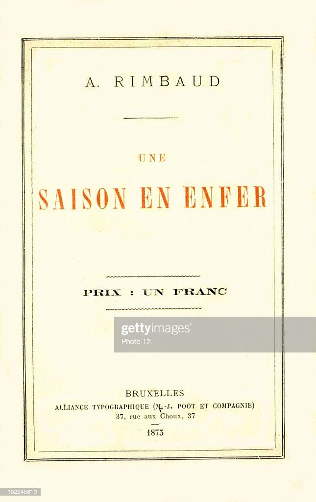 Cover Of Une Saison En Enfer By Arthur Rimbaud