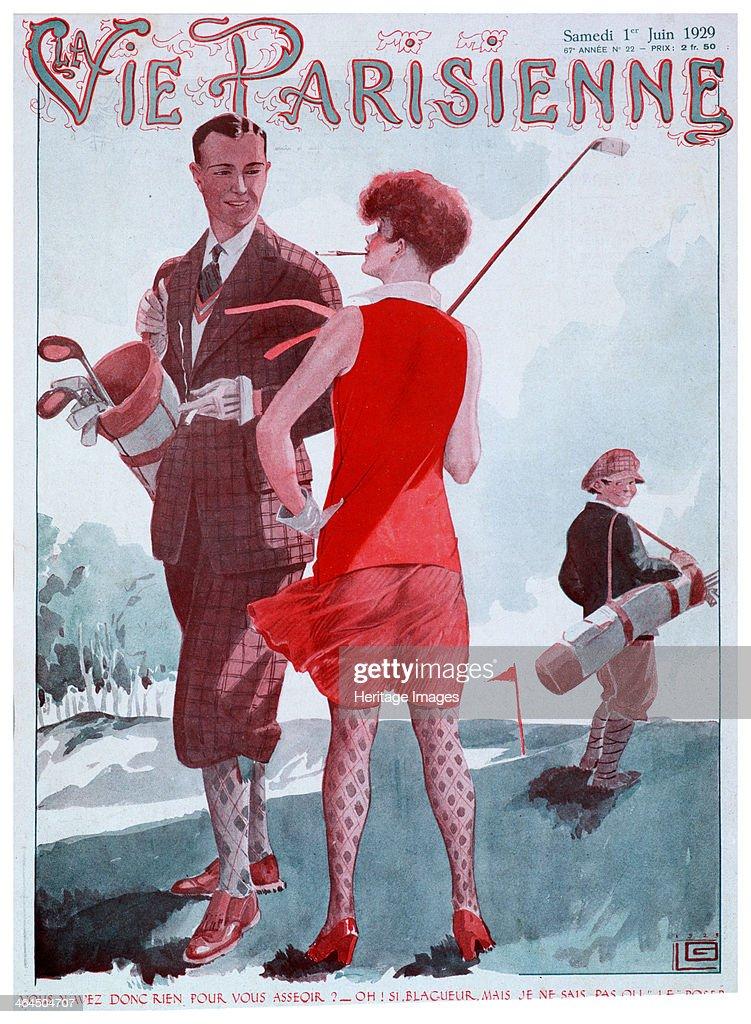 Cover of Vie Parisienne magazine, French, 1929. : News Photo