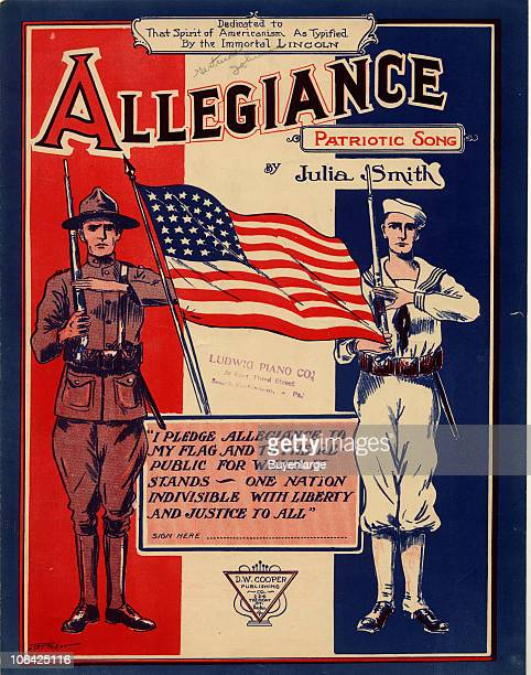 Cover page for the sheet music of ''Allegiance' by Julia Smith 1918