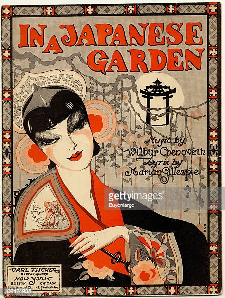 Cover page for the sheet music of 'In A Japanese Garden' by Marian Gillespie and Wilbur Chenoweth 1929