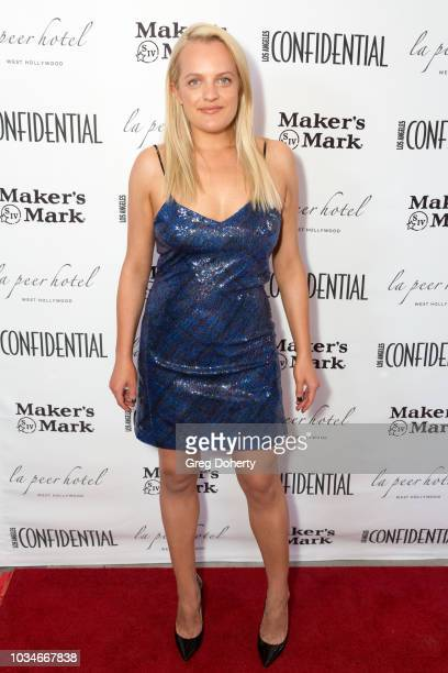 Cover Star Elisabeth Moss attends the Los Angeles Confidential Emmys Celebration at Kimpton La Peer Hotel on September 16 2018 in West Hollywood...