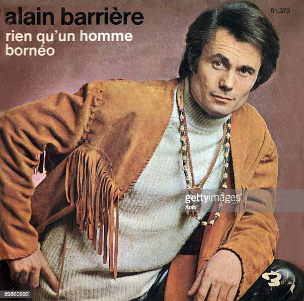 Cover the vinyl 45 rpm Nothing that a man borneo d Alain Barriere at Barclay 1970 edition