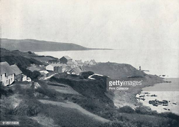 'Coverack The Cove and Village' 1895 From Round the Coast [George Newnes Limited London 1895]Artist Unknown
