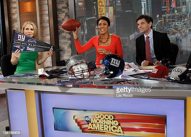 AMERICA Coverage of GOOD MORNING AMERICA 2/3/12 airing on the Walt Disney Television via Getty Images Television Network ANDREA CANNING ROBIN ROBERTS...