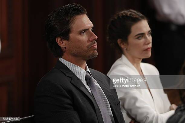 Coverage of the CBS series THE YOUNG AND THE RESTLESS scheduled to air on the CBS Television Network Pictured Joshua Morrow and Amelia Heinle