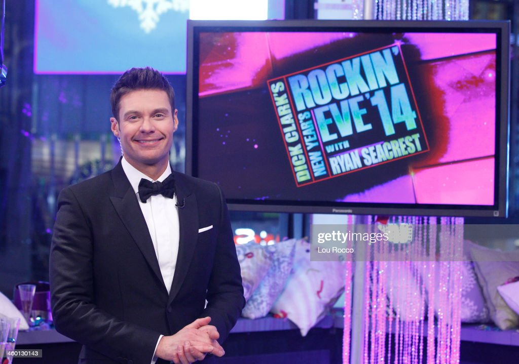 NEW YORK, 12/31/13 - Coverage of the celebration of the New Year on the annual ABC Television Network special - DICK CLARK'S NEW YEAR'S ROCKIN' EVE 2014 WITH RYAN SEACREST - broadcasting live from Times Square in the heart of New York City, December 31, 2013. (Photo by Lou Rocco/ABC via Getty Images) RYAN
