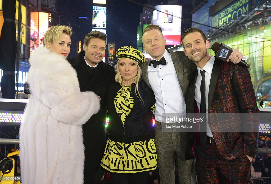 NEW YORK, 12/31/13 - Coverage of the celebration of the New Year on the annual ABC Television Network special - DICK CLARK'S NEW YEAR'S ROCKIN' EVE 2014 WITH RYAN SEACREST - broadcasting live from Times Square in the heart of New York City, December 31, 2013. (Photo by Ida Mae Astute/ABC via Getty Images) MILEY