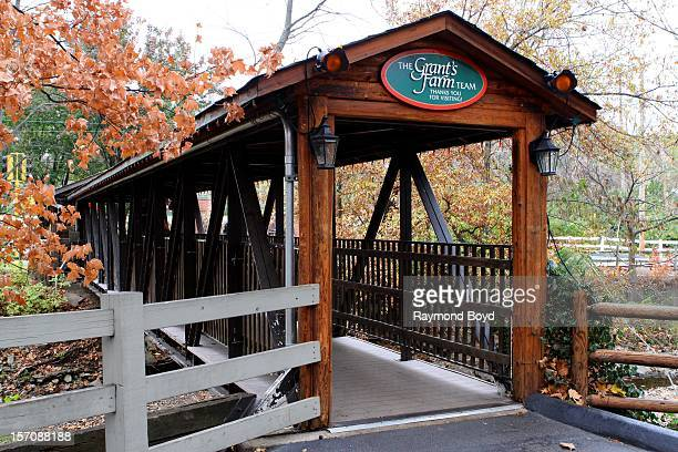 A covered bridge at the exit to Grant's Farm in St Louis Missouri on NOVEMBER 03 2012