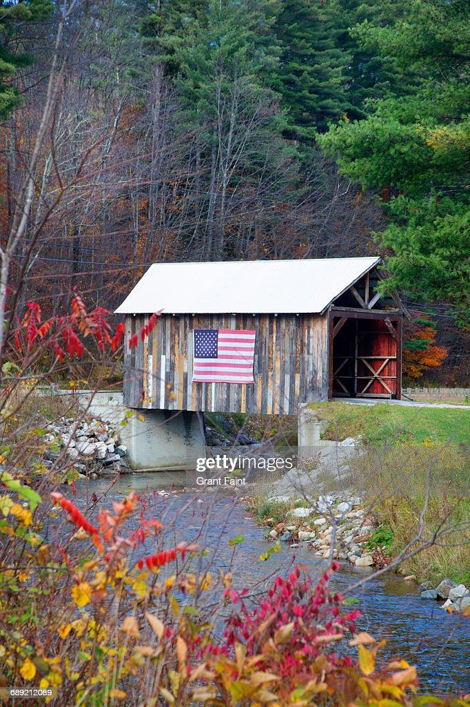 Covered bridge. : Stock Photo