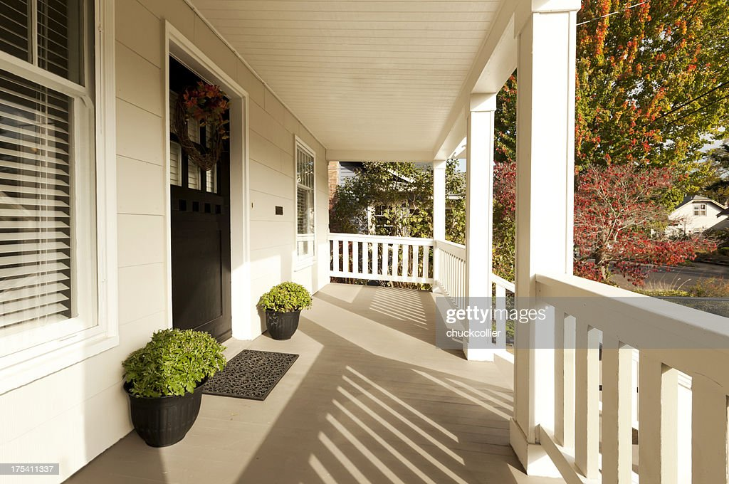 Covered Front Porch : Stock Photo