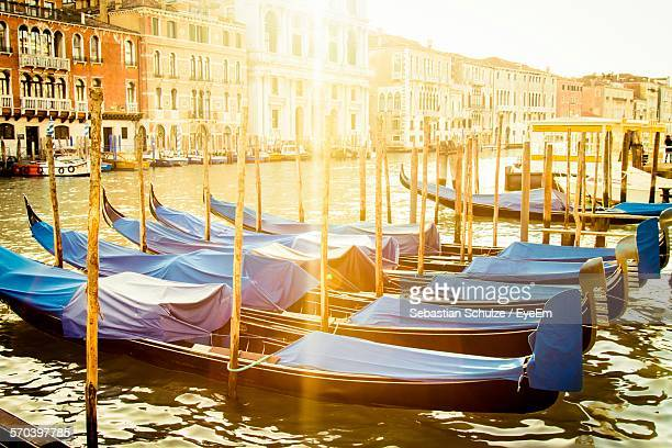 Covered Gondolas In Grand Canal