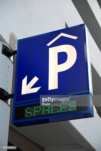 Covered parking sign