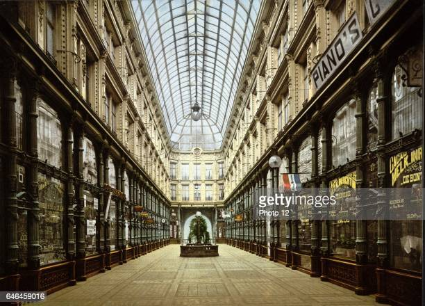 Covered shopping Arcade Rotterdam Holland between 1890 and 1900