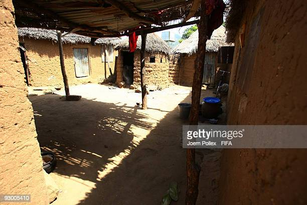 A covered yard outside a house is pictured on November 07 2009 in Bauchi Nigeria
