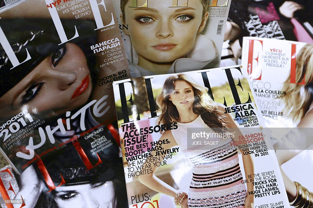 Covers of some of the 42 foreign edition : News Photo