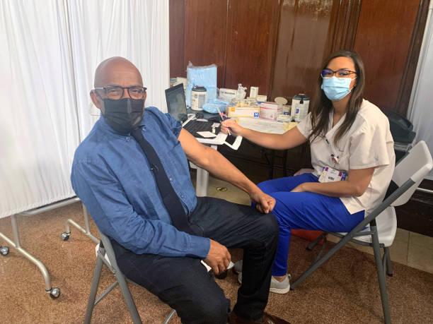 "NY: NBC's Today Show - ""Al Roker gets his Covid Vaccine"""