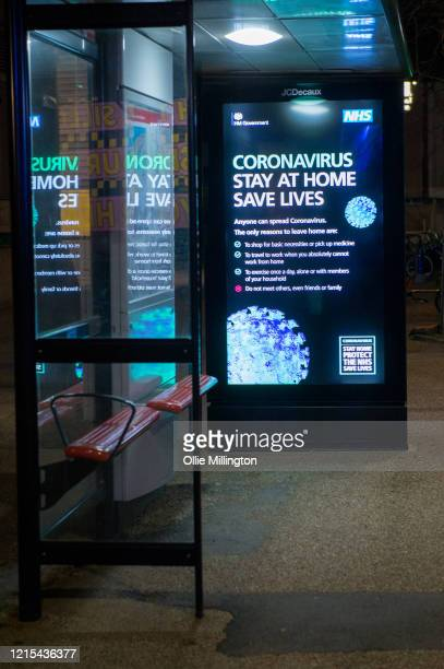 Covid-19 lock-down awareness poster on March 28, 2020 in London, England. British Prime Minister, Boris Johnson, announced strict lockdown measures...