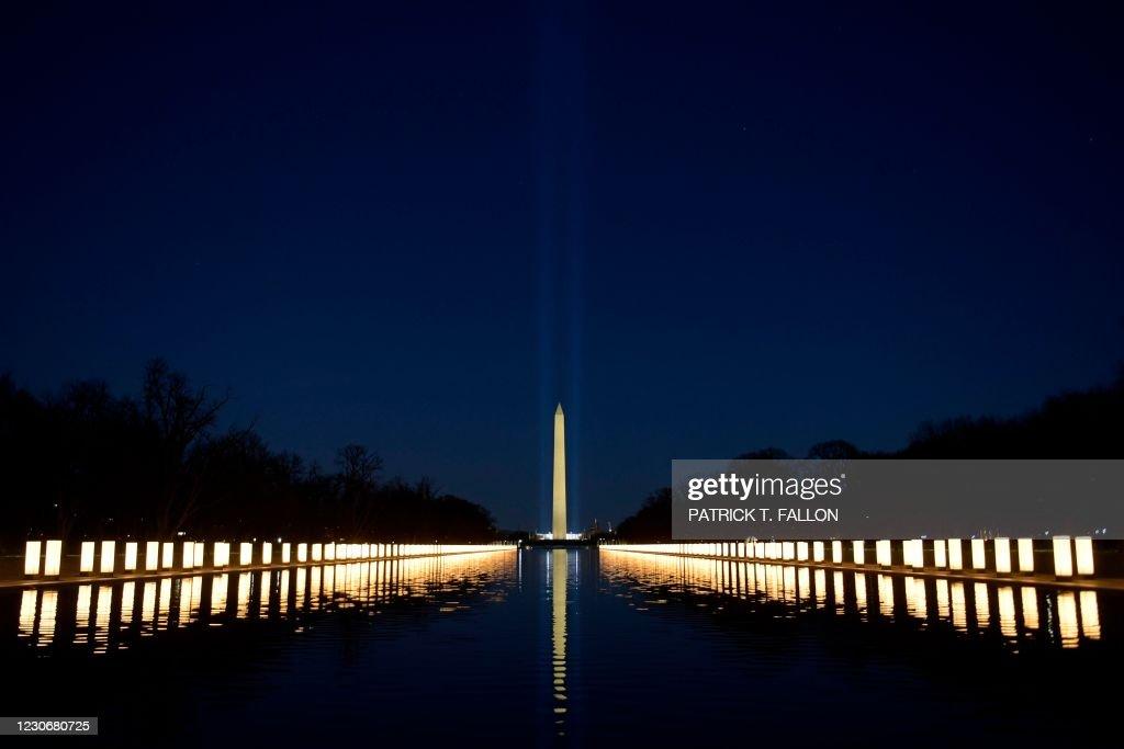US-POLITICS-INAUGURATION-HEALTH-VIRUS-MEMORIAL : News Photo
