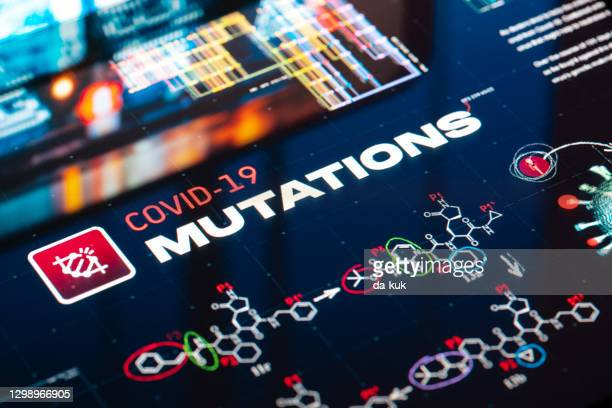 covid-19 mutations background - genetic mutation stock pictures, royalty-free photos & images