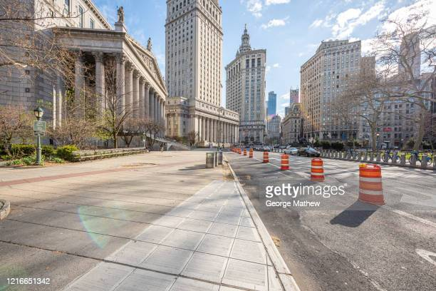 covid-19 pandemic - empty streets, united states supreme court - wide view - empty streets stock pictures, royalty-free photos & images