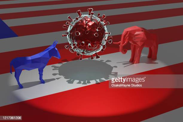 covid-19 politics - democratic party usa stock pictures, royalty-free photos & images