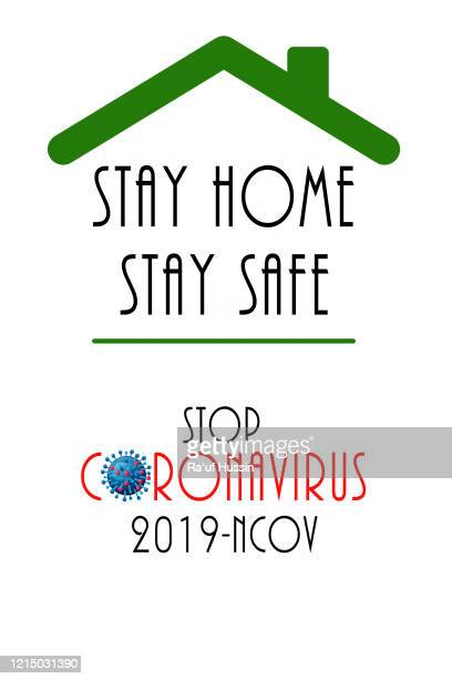 covid-19 quarantine campaign of stay at home. virus outbreak prevention concept. - avoidance stock pictures, royalty-free photos & images