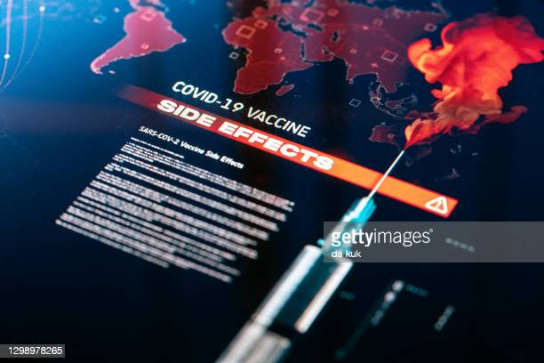covid-19 side affects - anti vaccination stock pictures, royalty-free photos & images