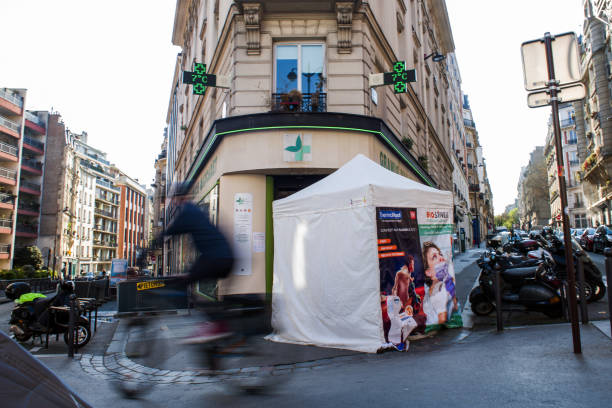 FRA: Parisians Use Free Rapid Testing Pop-up Tents as Virus Deaths Soar