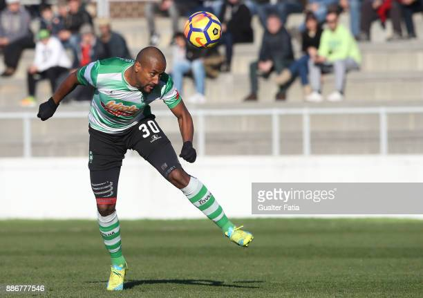 Covilha defender Kiko Zarabi from Algeria in action during the Segunda Liga match between CD Cova da Piedade and SC Covilha at Estadio Municipal Jose...