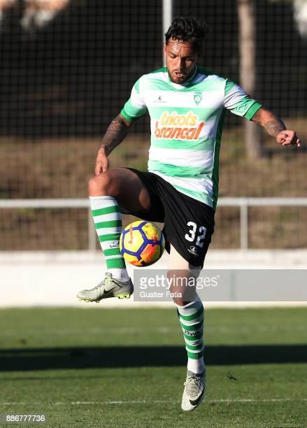 Covilha forward Erivelto from Brazil in action during the Segunda Liga match between CD Cova da Piedade and SC Covilha at Estadio Municipal Jose...