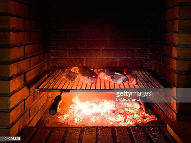 Cow meat and bone to grill Basque