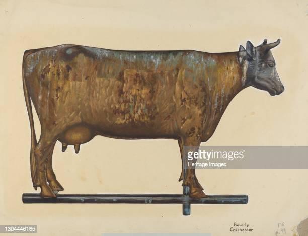 Cow Weather Vane, c. 1938. Artist Beverly Chichester.