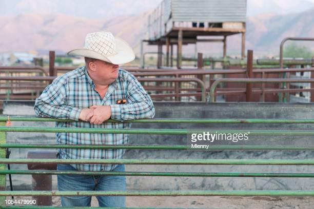 Cowboy at Rodeo Gate Utah USA Portrait