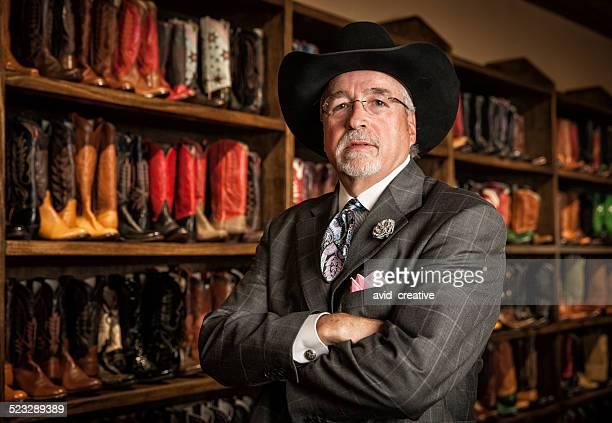 Cowboy Boot Store Owner Portrait